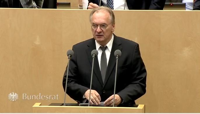 Ministerpräsident Dr. Reiner Haseloff im Bundesrat